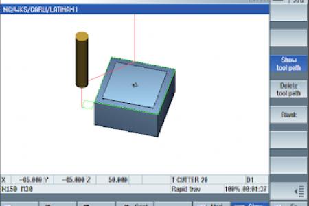 Simulasi Program CNC Dengan Kontrol Sinumerik Siemens